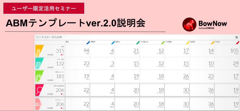 【8月12日(木)】ABMテンプレートver.2.0活用説明会